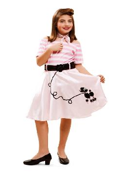 disfraz de año 50 rayas niña