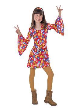 disfraz de años 70 flores para niña