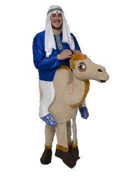 disfraz de arabe con camello hombre