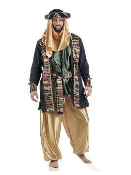 disfraz de árabe verde deluxe hombre. Este traje de arabe es ideal para Carnaval, Ferias Históricas, Eventos Temáticos de Disfraces. Este disfraz es ideal para tus fiestas temáticas de disfraces de guerreros y arabes,cabalgata de reyes o paje hombre. fabricación nacional