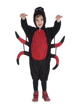 disfraz de aranita roja y negra para niño
