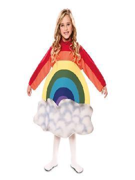 disfraz de arcoiris con nubes para infantil