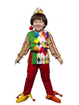 disfraz de arlequin colorido niño