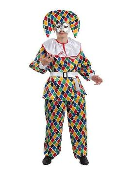 disfraz de arlequin divertido hombre