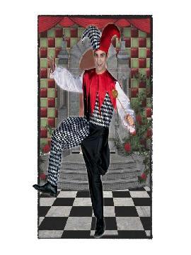 disfraz de arlequin para hombre adulto. Este divertido y alegre traje de arlequin hombre adulto.Esta compuesto con buzo de satén no pasarás desapercibido en Fiestas Temáticas, de Disfraces o en Carnavales.Este disfraz es ideal para tus fiestas temáticas de disfraces de payasos del circo,bufones y arlequines para hombre adultos.