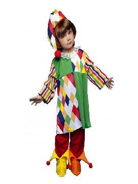 disfraz de arlequina colorido niña. Este comodísimo traje es perfecto para carnavales, espectáculos, cumpleaños y tambien para las fiesta de los colegios como fin de curso o cualquier otras actividades. Este disfraz es ideal para tus fiestas temáticas de disfraces de payasos del circo,bufones y arlequines para infantiles.