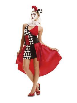 disfraz de arlequina sexy mujer