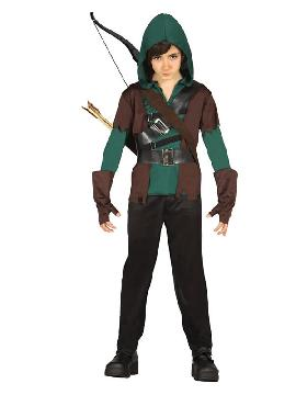 disfraz de arquero robin para niño