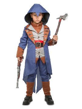 disfraz de asesino creed azul para niño