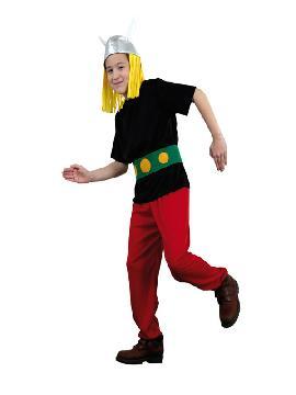disfraz de asterix niño. Con este traje de galo no habrá ejército que se te resista, ni romanos enemigos, en las fiestas temáticas y carnaval. Este disfraz es ideal para tus fiestas temáticas de disfraces cuentos populares, famosos y músicos infantil.