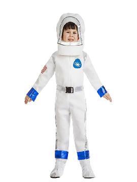 Emprede tu carrera espacial disfraz de astronauta para niño. Deja tu nave Apolo XXX en la puerta de las fiestas de carnavales, halloween o temáticas y encuentra a esa chica alienígena con la que mirar esa otra cara de la luna. Este disfraz es ideal para tus fiestas temáticas de galácticos y astronauta infantil.