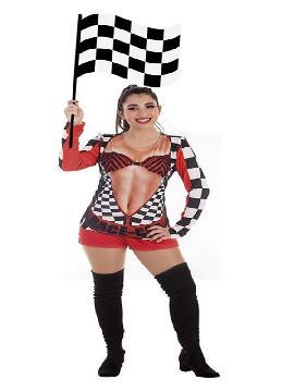 disfraz de azafata de carreras para mujer