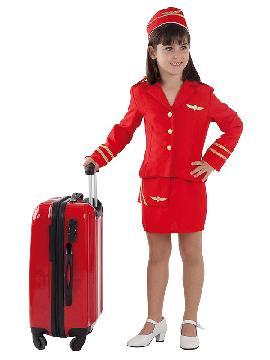 disfraz de azafata de vuelo niña