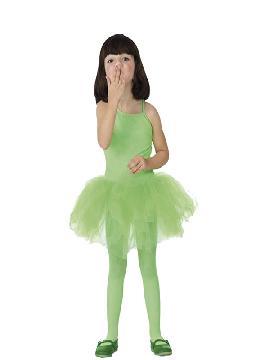 Disfraz de bailarina verde niña. Te divertirás transformando tu Carnaval o Fiestas Temáticas y de Cumpleaños en un gran teatro donde mostrar tus aprendizajes en el duro mundo de la danza.