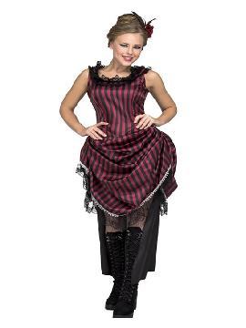 disfraz de bailarina a rayas de salon mujer