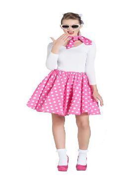 disfraz de bailarina pin up rosa mujer
