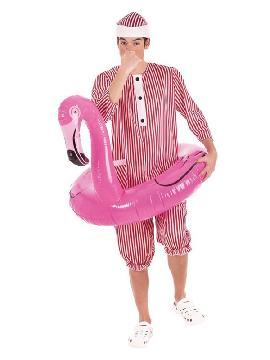 disfraz de bañista con flamenco para hombre