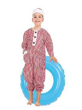 disfraz de bañista retro para niño