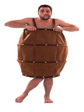disfraz de barril para hombre