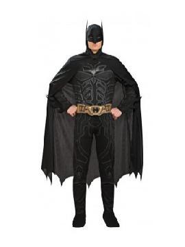 disfraz de batman tdk musculoso hombre. este traje para tematica de superheroes de batman. La identidad secreta de Batman ha sido siempre Bruce Wayne, un empresario multimillonario y filántropo. Transformate en murcielago.