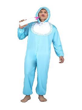 disfraz de bebe azul para adulto