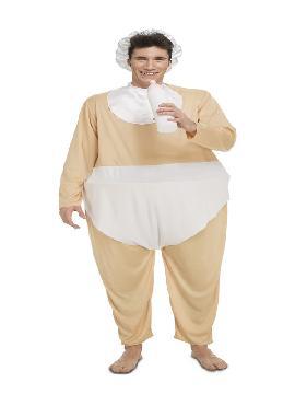 disfraz de bebe gordo divertido para adultos