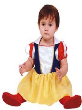 disfraz de blancanieves para bebe. Es ideal para vestir a la más pequeñita de la casa como una princesa de un cuento infantil de Disney en Fiestas de la Guardería, Cumpleaños o Carnaval.Este disfraz es ideal para tus fiestas temáticas de disfraces de princesas y principes para bebes.