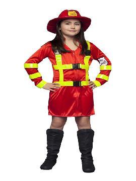disfraz de bombera niña