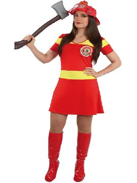 Disfraz de bombera sexy mujer. Te convertirás en una auténtica luchadora contra el fuego,con este traje deslumbrarás en todas las fiestas temáticas, despedidas de solteros y carnavales. Este disfraz es ideal para tus fiestas temáticas de disfraces de uniformes de trabajo y deporte para mujer adultos.