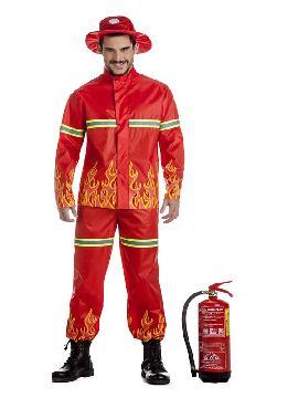 disfraz de bombero llamas hombre