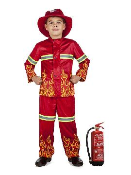 disfraz de bombero llamas niño