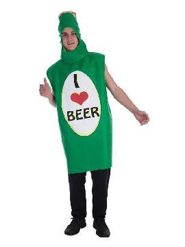 disfraz de botella beer para hombre