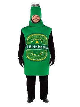 disfraz de botella cerveza para adulto