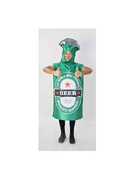 disfraz de botella de cerveza adulto