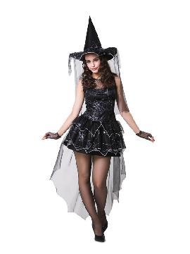 disfraz de bruja arana negra mujer