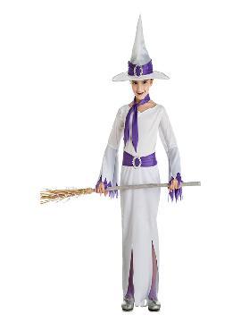 disfraz de bruja blanca para niña