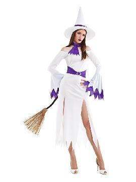 disfraz de bruja blanca sexy mujer