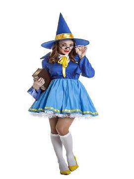 disfraz de bruja buena azul mujer