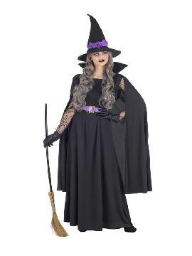 disfraz de bruja clasico negro mujer