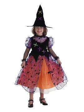 disfraz de bruja colorin para niña