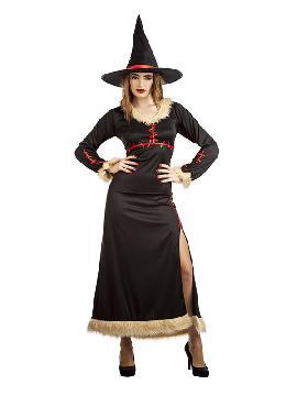 disfraz de bruja costuras mujer