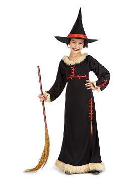 disfraz de bruja costuras niña