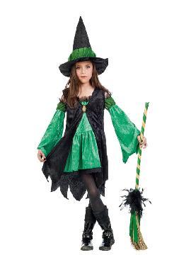 disfraz de bruja esmeralda niña