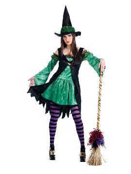 disfraz de bruja esmeralda verde mujer