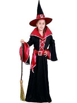 disfraz de bruja granate niñas