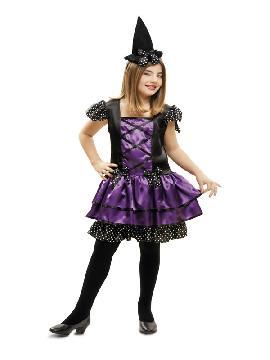 disfraz de bruja morada corta niña