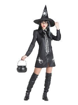 disfraz de bruja negra araña mujer