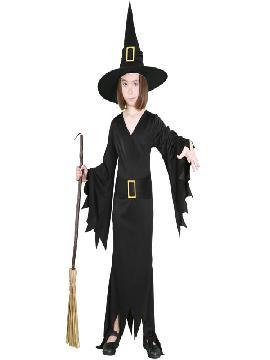 disfraz de bruja negras niña