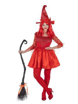disfraz de bruja roja fantasia para mujer