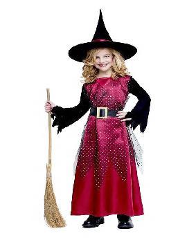 disfraz de bruja roja para niña